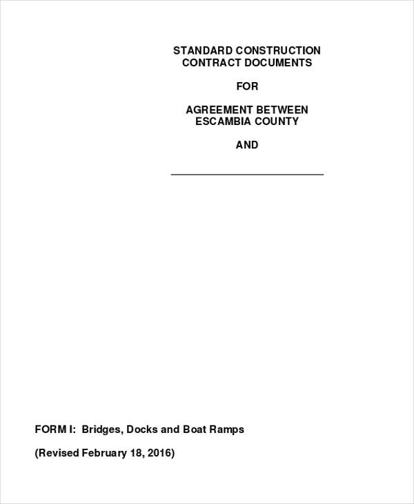 commercial construction agreement pdf