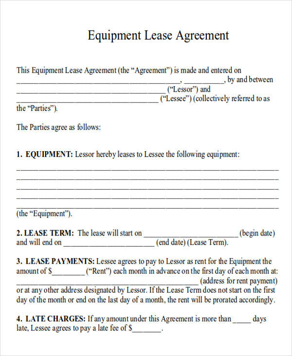 Commercial Agreement Example