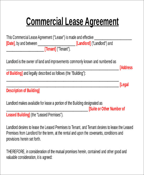 commercial lease agreement format4