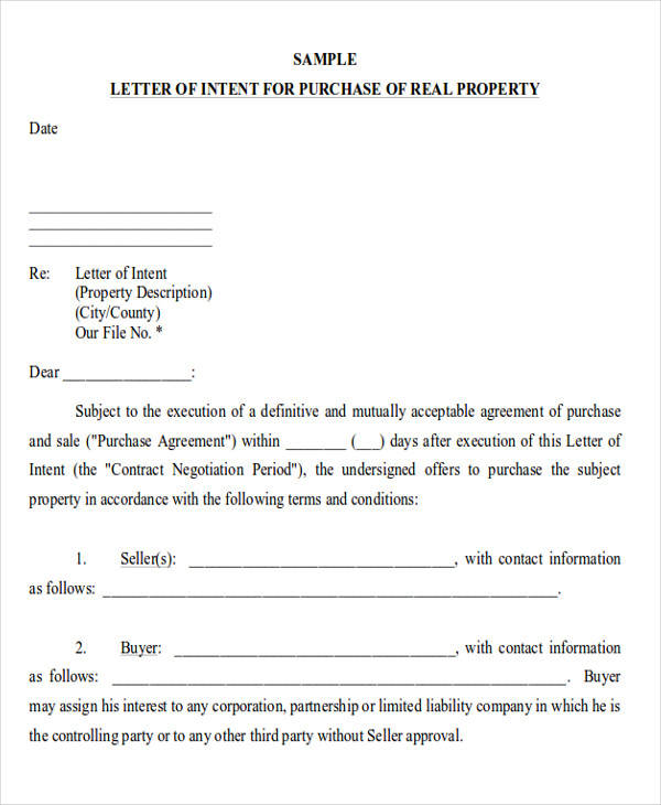 60 sample letters of intent sample templates commercial real estate letter of intent spiritdancerdesigns Gallery
