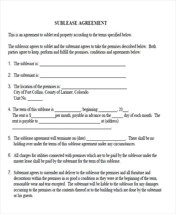39 Agreement Forms In PDF