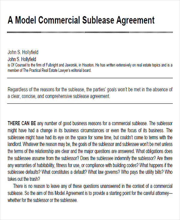 44 Printable Agreement Forms