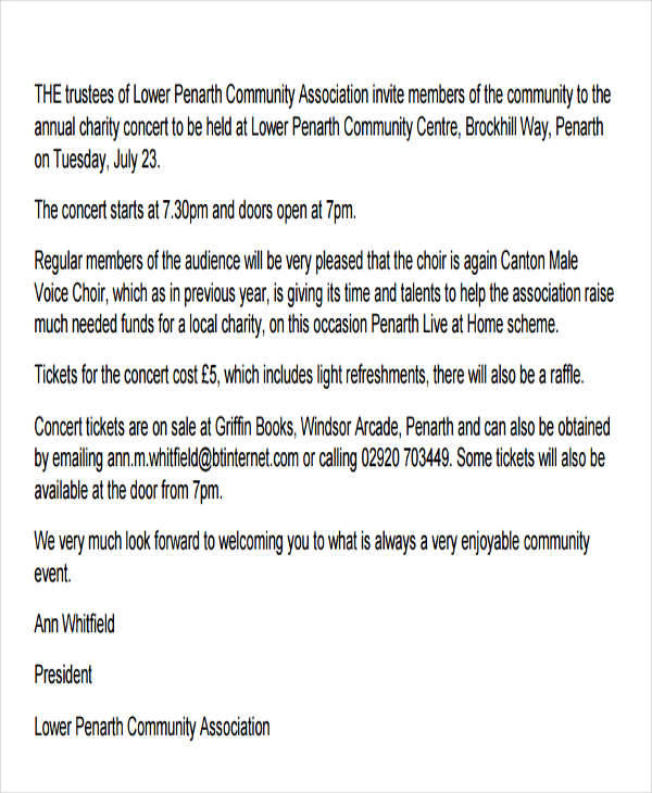 36 invitation letters sample templates community event invitation letter stopboris Image collections