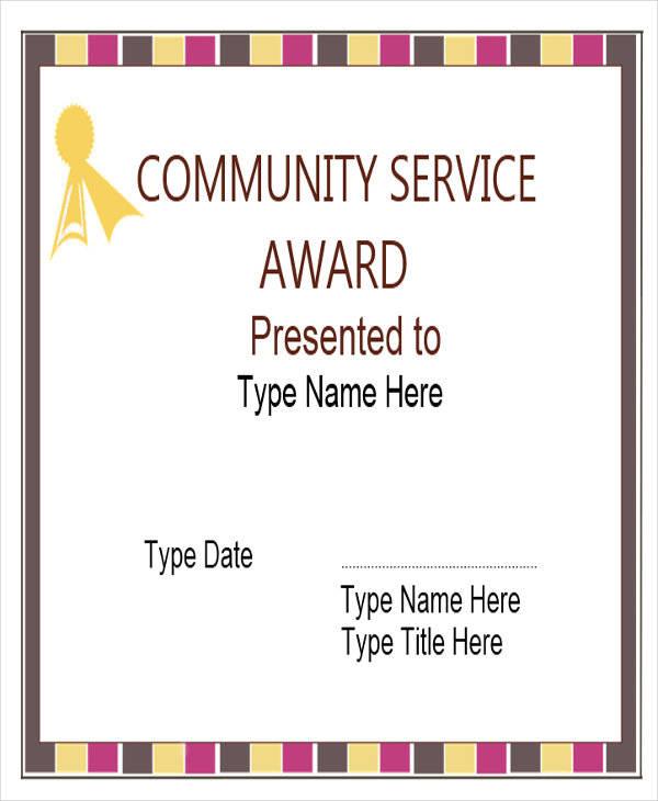 community service award certificate1