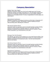 company-newsletter-sample-word
