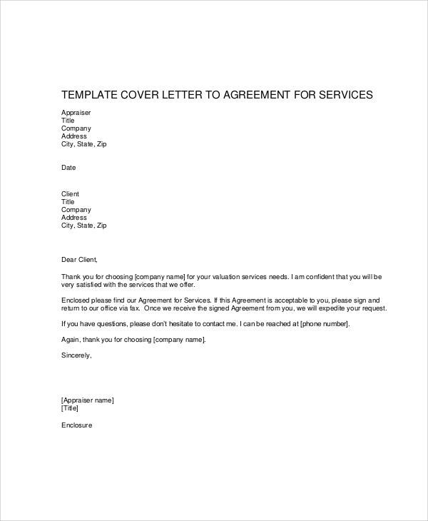 company service agreement letter