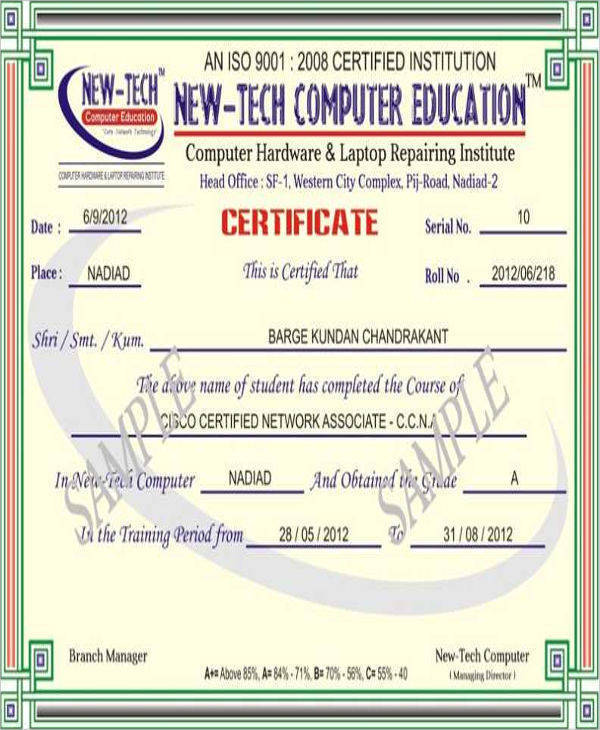 Computer Training Certificates - Hlwhy