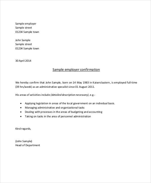 How to write a letter of self employment image collections letter 50 sample employment letters sample templates confirmation of self employment letter expocarfo image collections spiritdancerdesigns Gallery