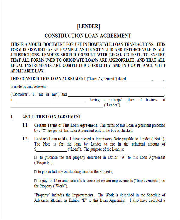 construction loan agreement form2