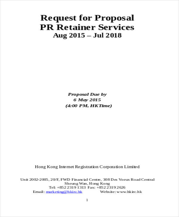 consulting retainer services agreement