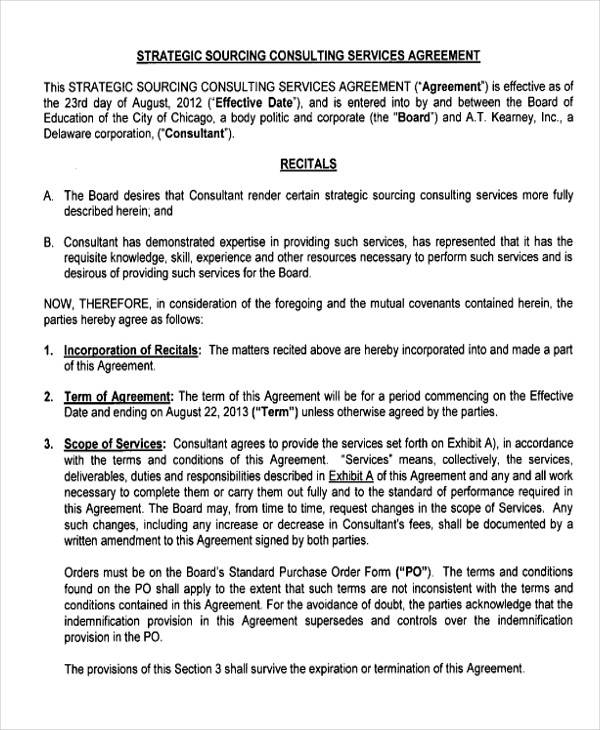 35 consulting agreement examples sample templates for Consulting fee agreement template
