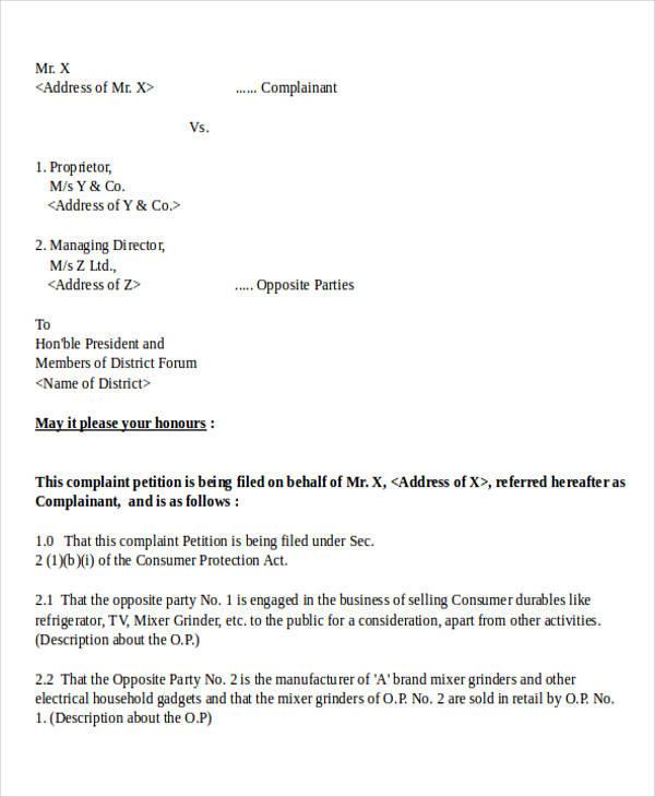 36 complaint letter examples sample templates consumer forum complaint letter spiritdancerdesigns Images