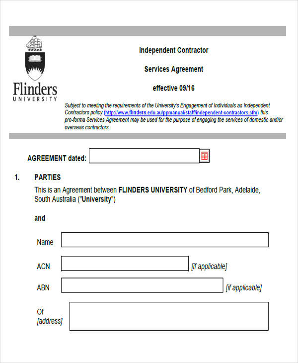 contractor services agreement form1