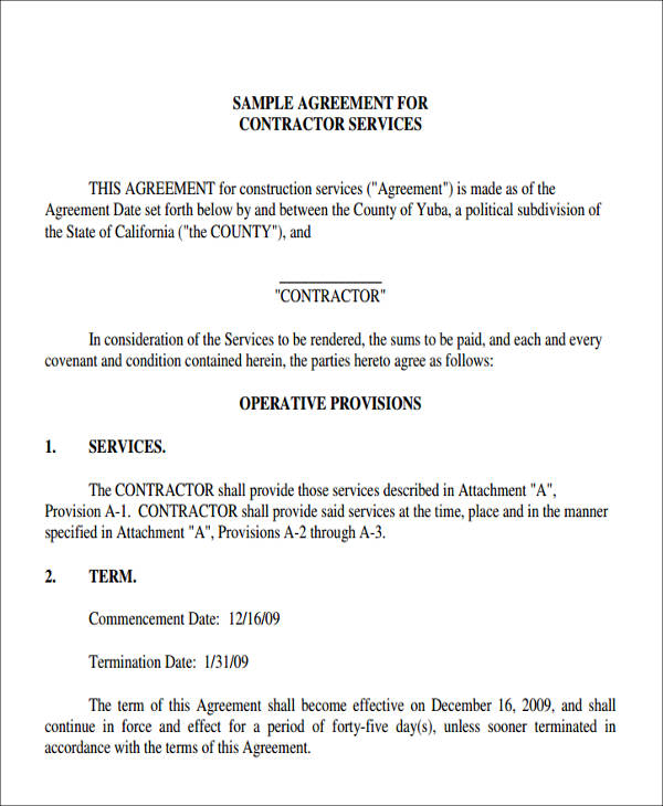 contractor services agreement form3