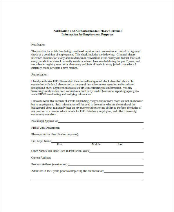 criminal background release form