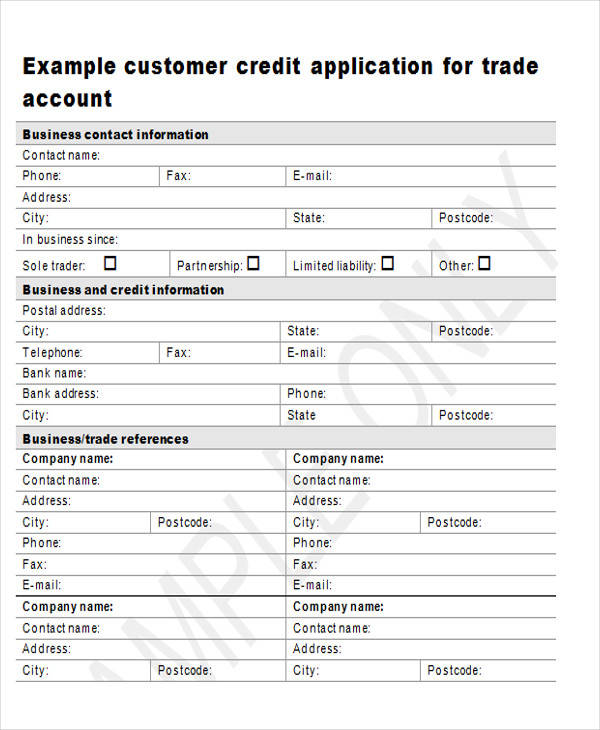 customer credit application form1
