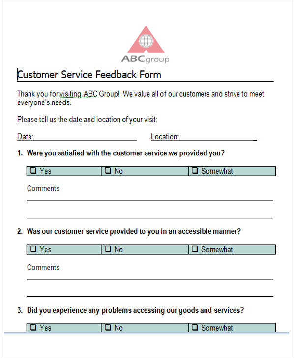 Printable Surveys. Printable Survey Template 6 Free Word Pdf