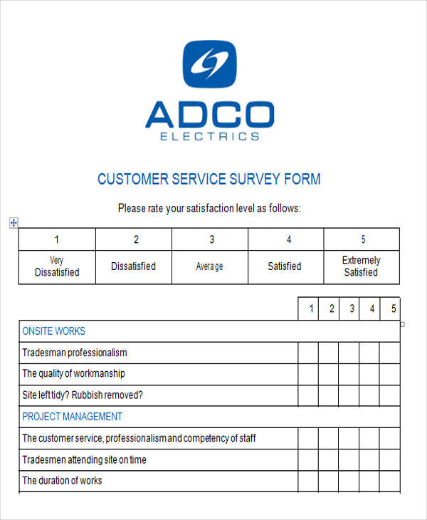 Survey Form in Word