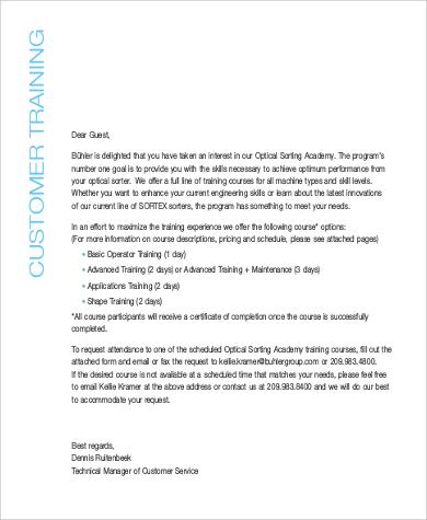 customer training application examples