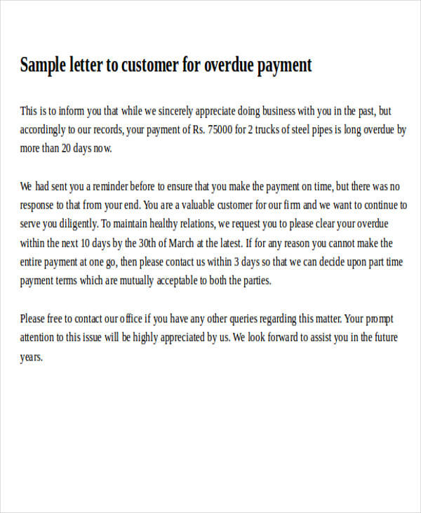 Formal request letters customer payment request letter spiritdancerdesigns Image collections