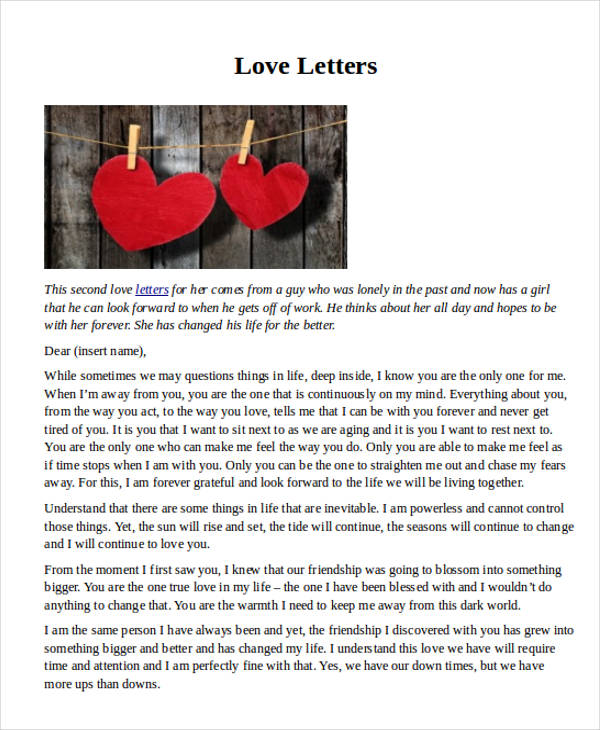 long love letters for her letter examples 23464 | Cute Long Love Letter