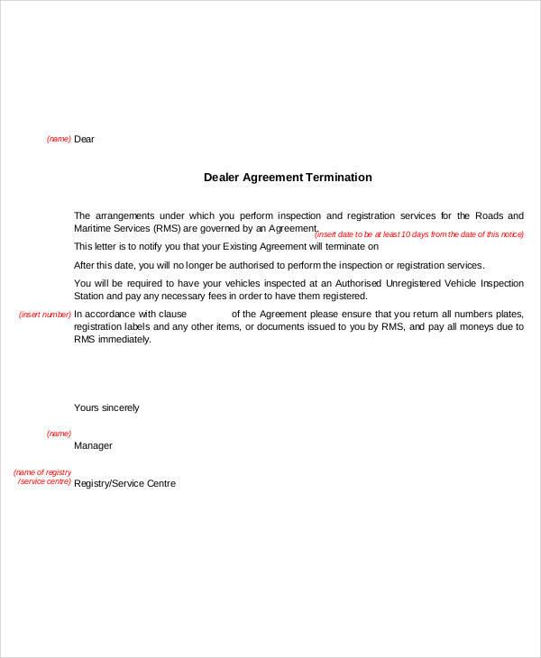dealer agreement termination letter1