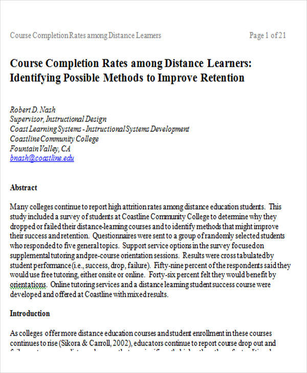 distance learning student survey form