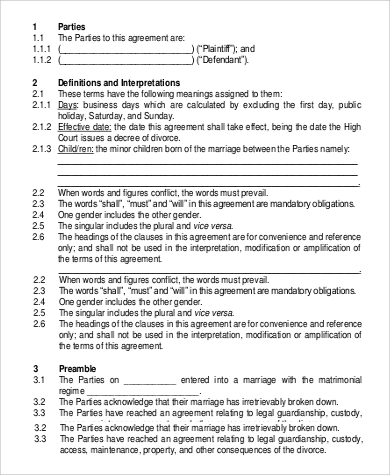Sample Agreements In Pdf