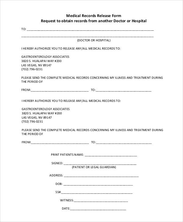 47+ Printable Release Form Samples & Templates - PDF, DOC