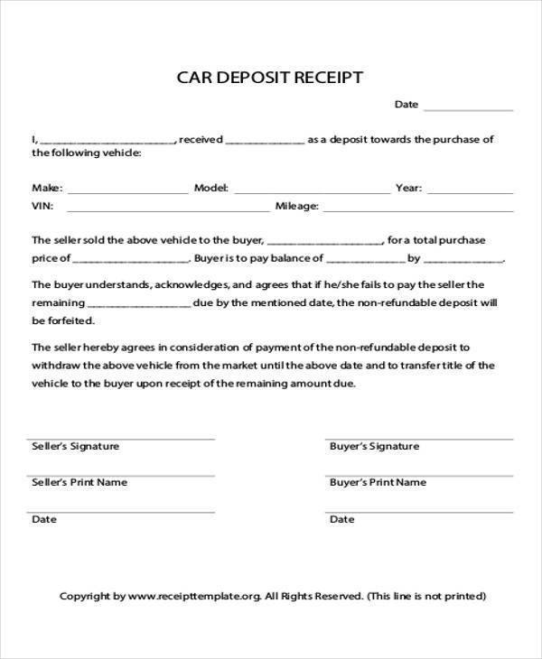 down payment receipt form1