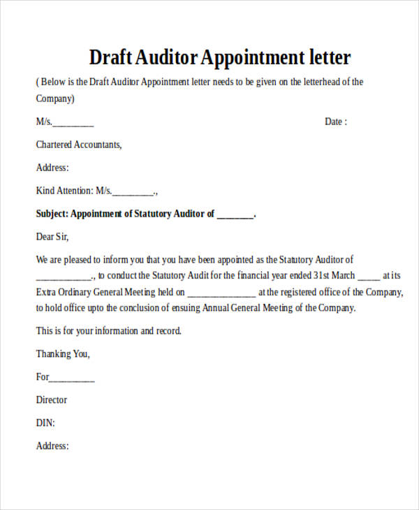 28 Consent Letter Format For Appointment Of Auditor