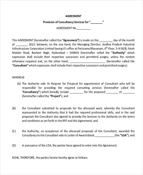 draft consulting contract agreement