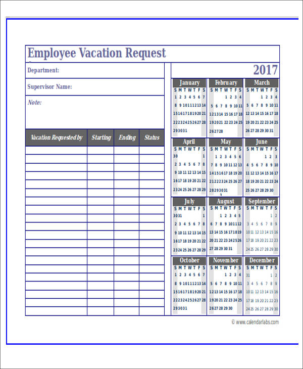 employee appointment planner sample