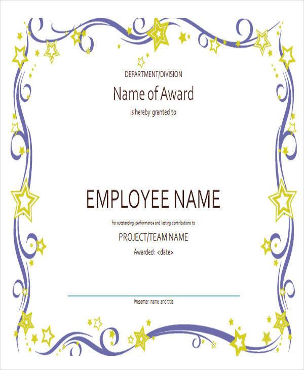 employee appreciation award certificate3