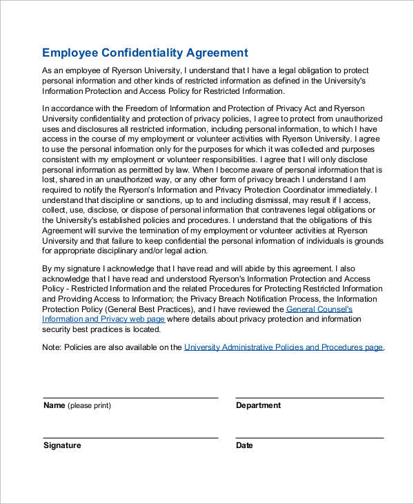 employee confidentiality agreement2