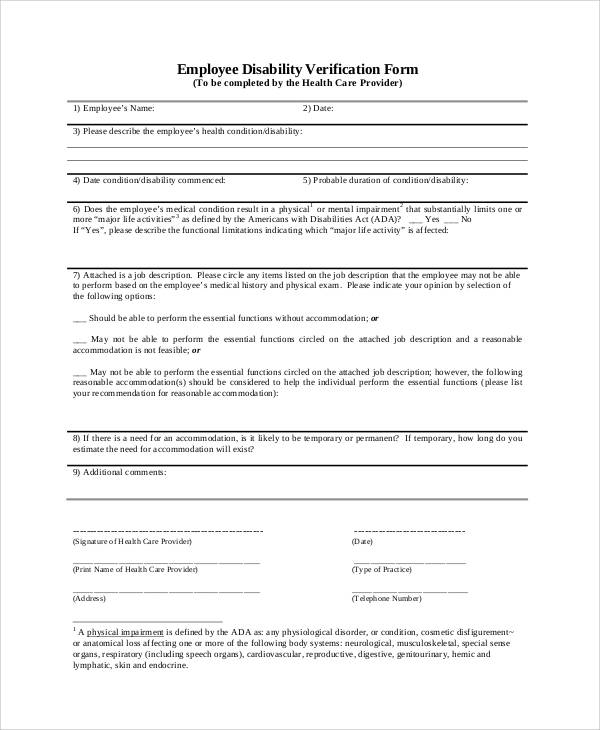 50+ Sample Verification Forms | Sample Templates on periodontal charting printable form, ambulance form, printable medical clearance form,