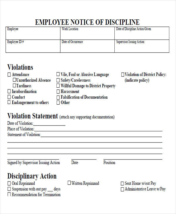 employee discipline warning notice3