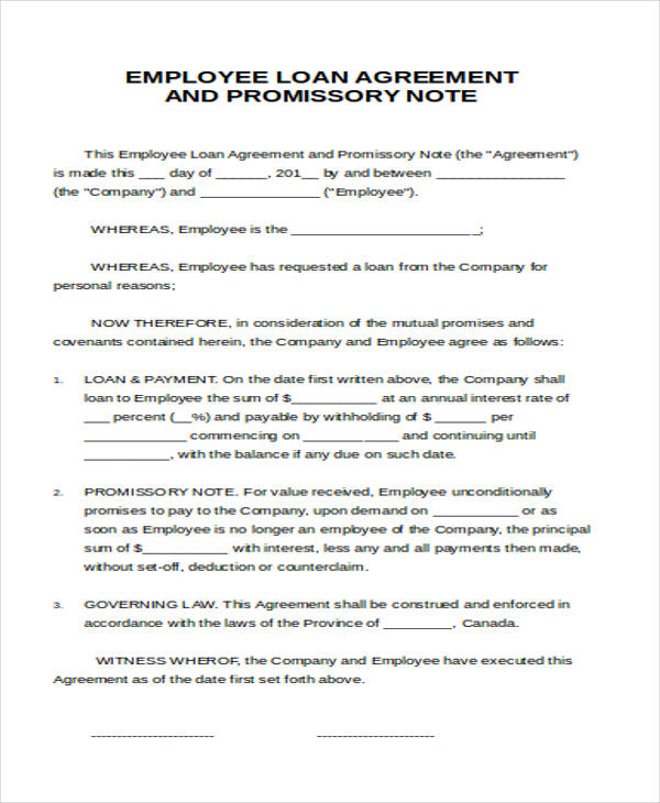 employee loan agreement letter - Agreement To Pay Letter