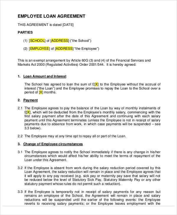 employee loan agreement1