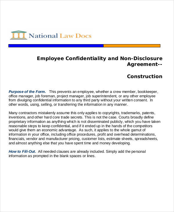 employee non disclosure agreement1