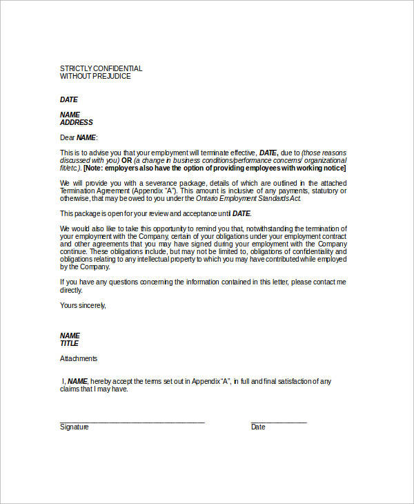 employee notice of termination of employment2