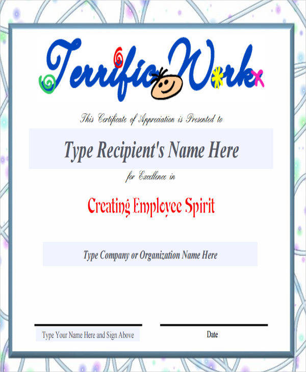 employee recognition award certificate4
