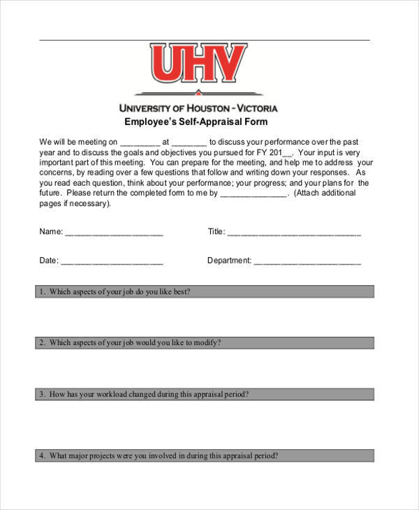 employee self appraisal form1