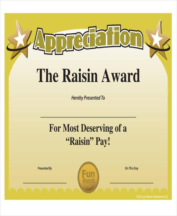 employee service award certificate