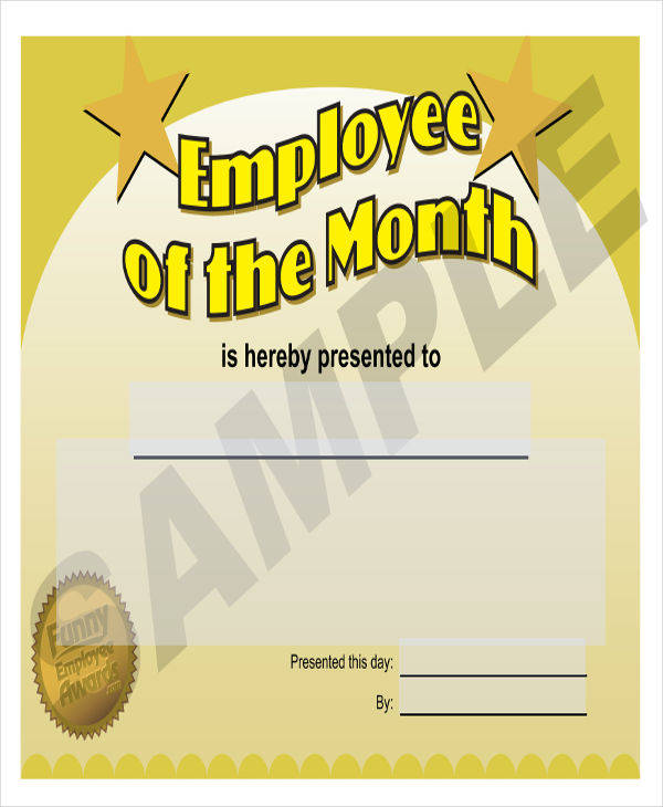 employee of the month award certificate1