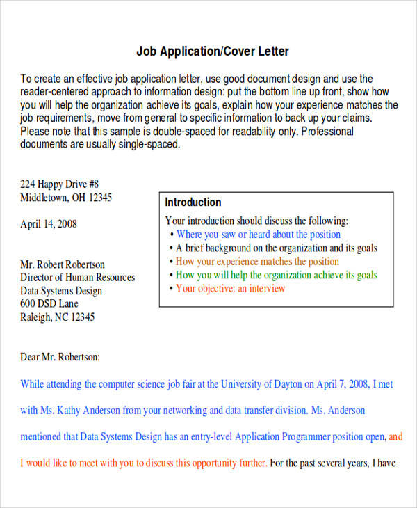 employment application letter of intent - Letter Of Intent For Employment Template