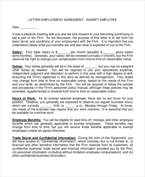 employment contract agreement letter1