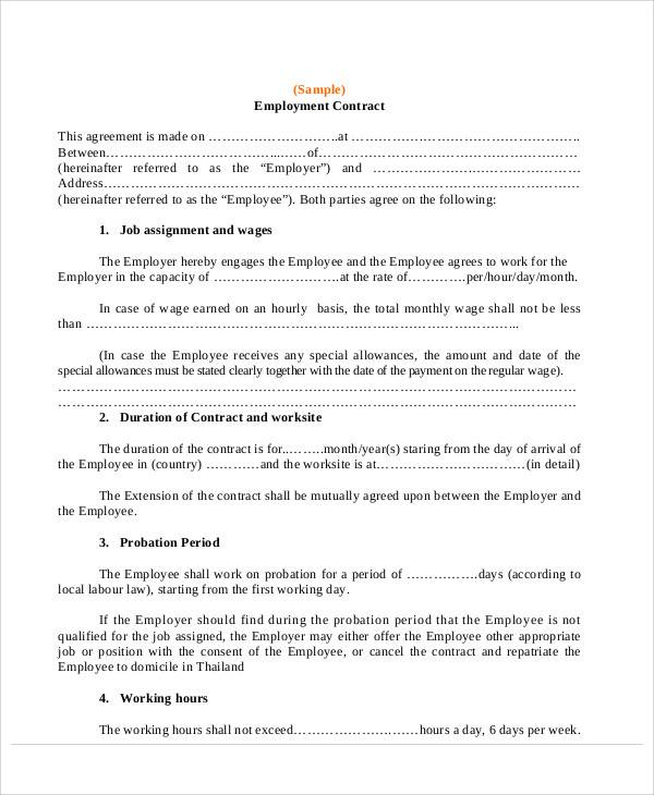 employment contract agreement letter2