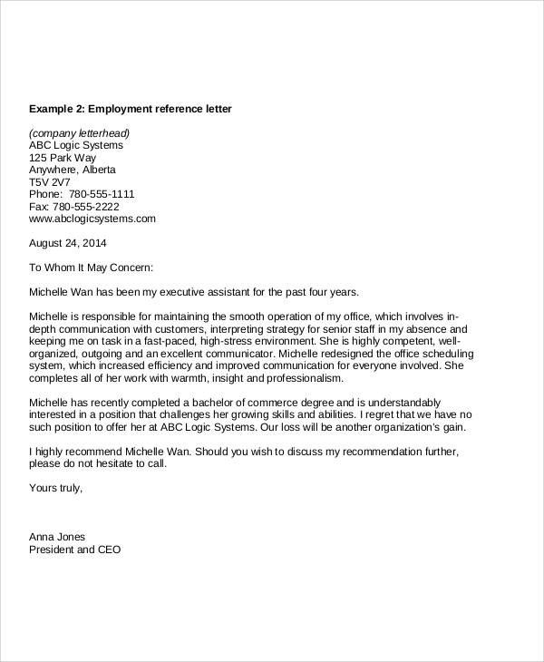 employment reference letter sample1