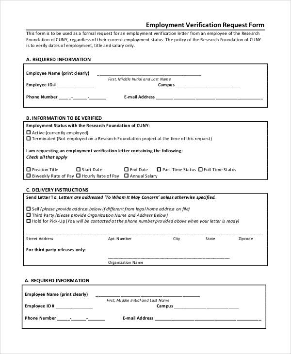 Employment Request Form Vacant Position Form Is Found On Staff – Employment Verification Request Form Template